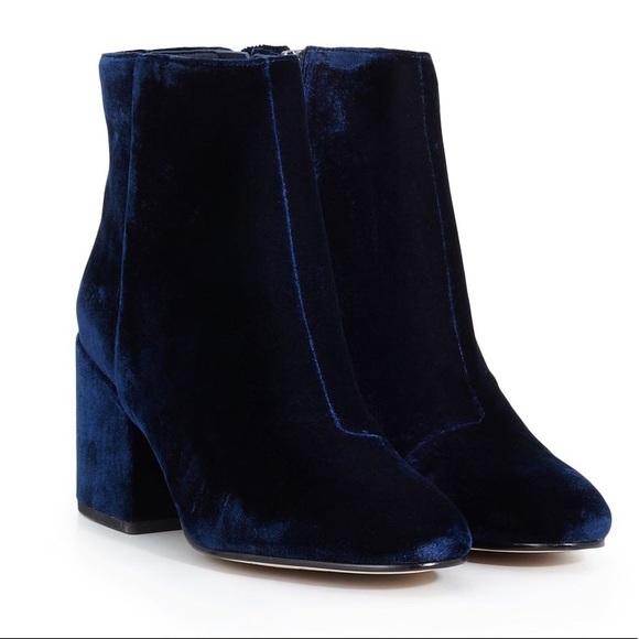 77aebedba Sam Edelman Blue Velvet Taye Ankle Boots